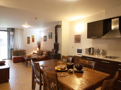 Photo for apartment 3 - 1 bedroom with garden view and full of light, wood burning stove