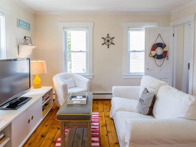 Photo for Bright & Airy 2BR 1 Block from Beach, Sleeps 4, On-site Parking