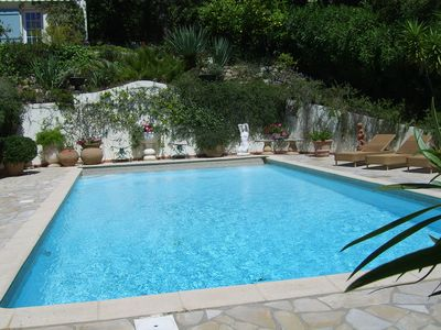 Photo for 4 bedroom house 8 People Face Sea / Pool - Parking / Garden 2500m²