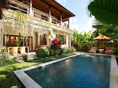 Photo for Villa Serena - Luxury 2BR pool villa in rice fields, 10 mn walk to Ubud