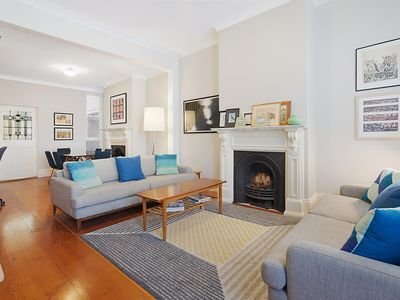 Photo for Spacious Victorian with harbour view terrace