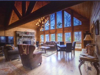 Photo for Luxury home on Bull Shoals Lake on 16 acres, 45 miles from Branson, Missouri!