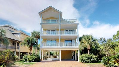 """Photo for Peace & """"Tranquility"""" Plantation home! Pets, Beach View, Pool, Hot tub, Elevator, Wi-Fi, Beach Gear 6BR/6BA"""