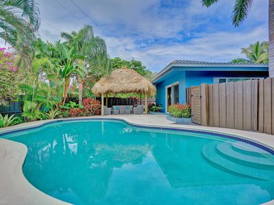 Photo for 4BR Heated Pool Home with Tiki Hut!