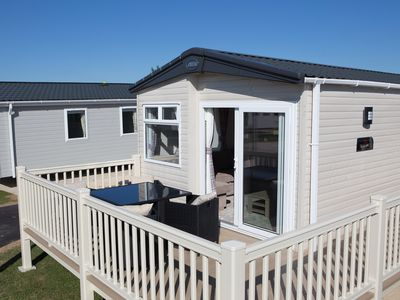 Photo for Luxury 8 berth with hot tub, Tattershall lakes