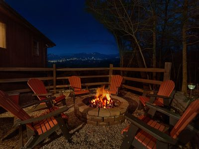 Photo for Enjoy mountain views and an outdoor firepit, secluded, yet minutes to town.