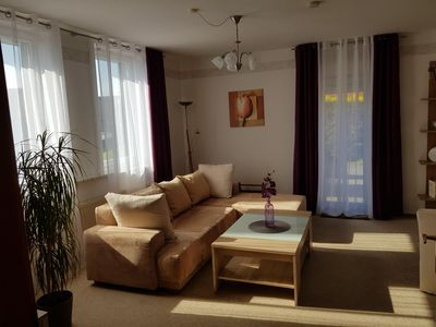 Photo for Apartment a. d. Land, terrace, 30min to the fair, motorcycle bike tours ideal