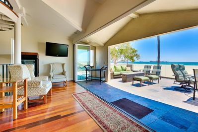 3rd Floor (main house) game room with access 30' x 30' deck with spectacular ocean views.