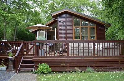 Photo for Deckhouse23, Luxury Modern Lodge Sleeps 4 with Large Deck & Meadow Garden