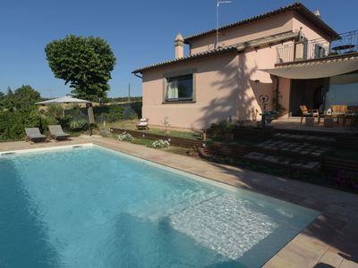 Photo for La Macchietta is a beautiful villa with private pool and garden in a quiet panoramic position, just