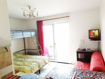 Photo for New apartment, garden with private parking, barbecue, near beaches on foot, Wifi