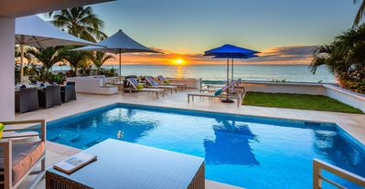 Photo for Nirvana - Amazing 5 bedroom beachfront villa. Steps from the white sandy beach. Great Offers !!