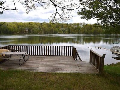 Photo for Rennie Lakefront Cottage, Traverse City  - 15 mins downtown - sleeps 5