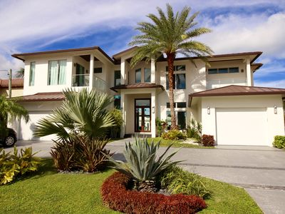 Photo for Contemporary Waterfront Estate - Gorgeous  Views! Steps from the Beach!