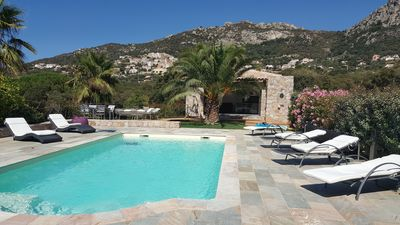 Photo for House 60 m2 Beautiful services, swimming pool, jacuzzi, beach near Calvi airport