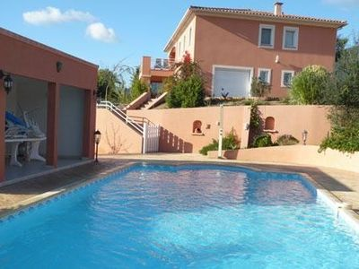 Photo for New flat ground garden f3 comfort. with large pool Ajaccio