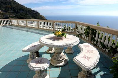 Main balcony with sweeping view of Coast and sea