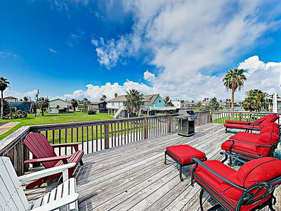 Photo for New Listing! Updated Rustic-Chic Beach & Bay Haven w/Bunk Room & Outdoor Bar