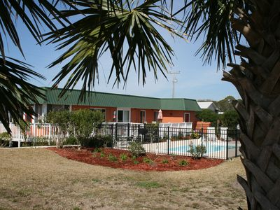 Photo for Steps to the Beach, 2 Bedrooms, Private Pool, Pet Friendly
