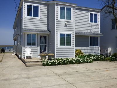 Photo for Play On Bay, 9 Bedroom Waterfront Beach House,Relaxing,Crabbing,Fishing,Golf,AC
