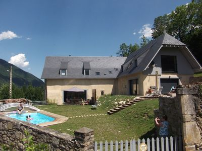 Photo for House rentals lodging Pyrenees Arreau Loudenvielle Swimming pool cyclo ski