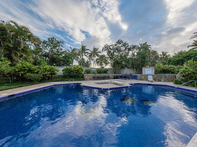 Photo for Private, spacious 2 bedroom luxury condo close to Turtle Beach.