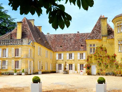 Photo for Bergerac/Sarlat, Historical Château, 247acres, amazing view, very quiet 10people