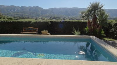 Photo for Beautiful view of the Luberon - Heated Pool, Fenced