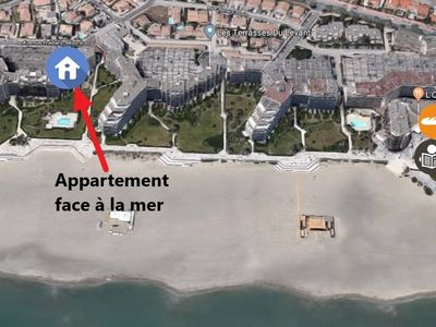 Photo for T2 apartment facing the sea, terrace, parking, wifi, 3 min walk from the spa