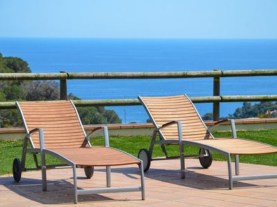 Photo for Club Villamar - Luxury, detached villa that accommodates 8 people, with private pool and spectacu...