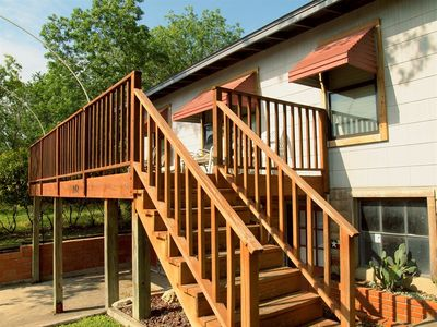 Shared Front Deck - This shared deck is the perfect spot for catching some sun and relaxing with friends!