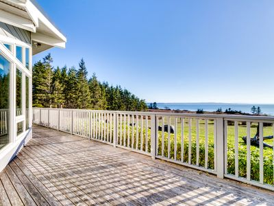 Photo for Lovely, oceanfront home with multiple sea views & beach access!
