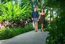 Stroll through the property with lush foliage.