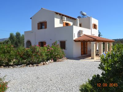 Photo for Villa with Private Pool, Garden, Sea and Mountain Views