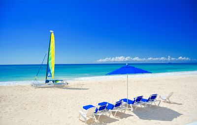 No crowds or rushing to get beach chairs. Your private set-up is waiting for you