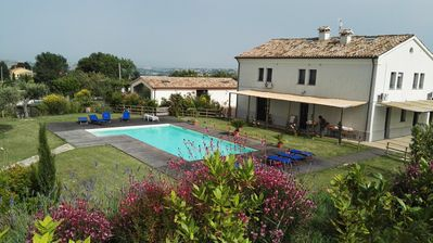 Photo for Farmhouse in the vineyards with garden and swimming pool
