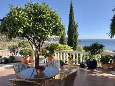 Photo for House overlooking the Bay of La Herradura and optional naturist private pool