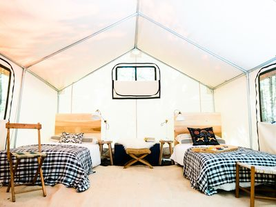 Photo for Glamping @ Tops'l Farm - Luxury Tent Site #5