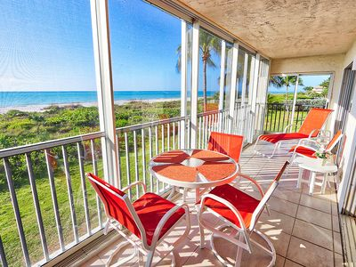 Gulf Front, First Living Level, Two Bedroom Condo - Sanibel Surfside 112