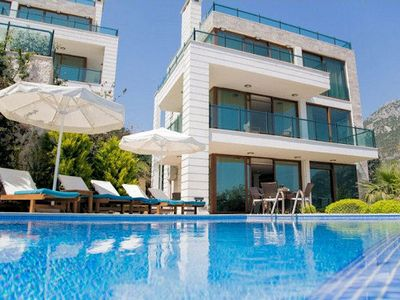 Photo for Villa Kalkan Sahane, located in an elevated position offering spectacular views of Kalkan Bay and pl