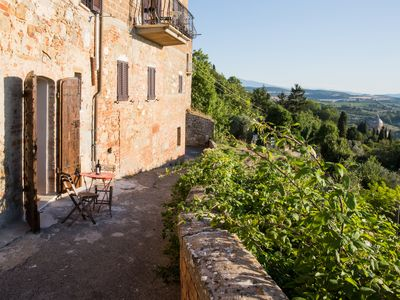 Photo for The Bird's view is an apartment just on the top of the town, with amazing view