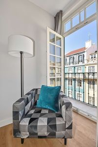 Photo for In Lisbon's premiere street Rua Augusta in modern building with elevator and aircon