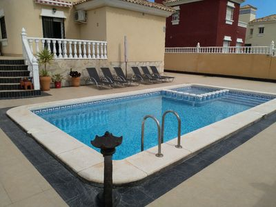 Photo for Villa with private pool within walking distance to beach