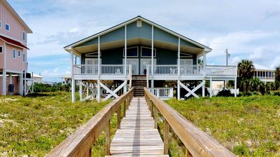 """Photo for Ready To Rent Now! FREE BEACH GEAR! Beachfront, Pets OK, Pool, Hot Tub, Fireplace, 4BR/4BA """"Dream Builder"""""""