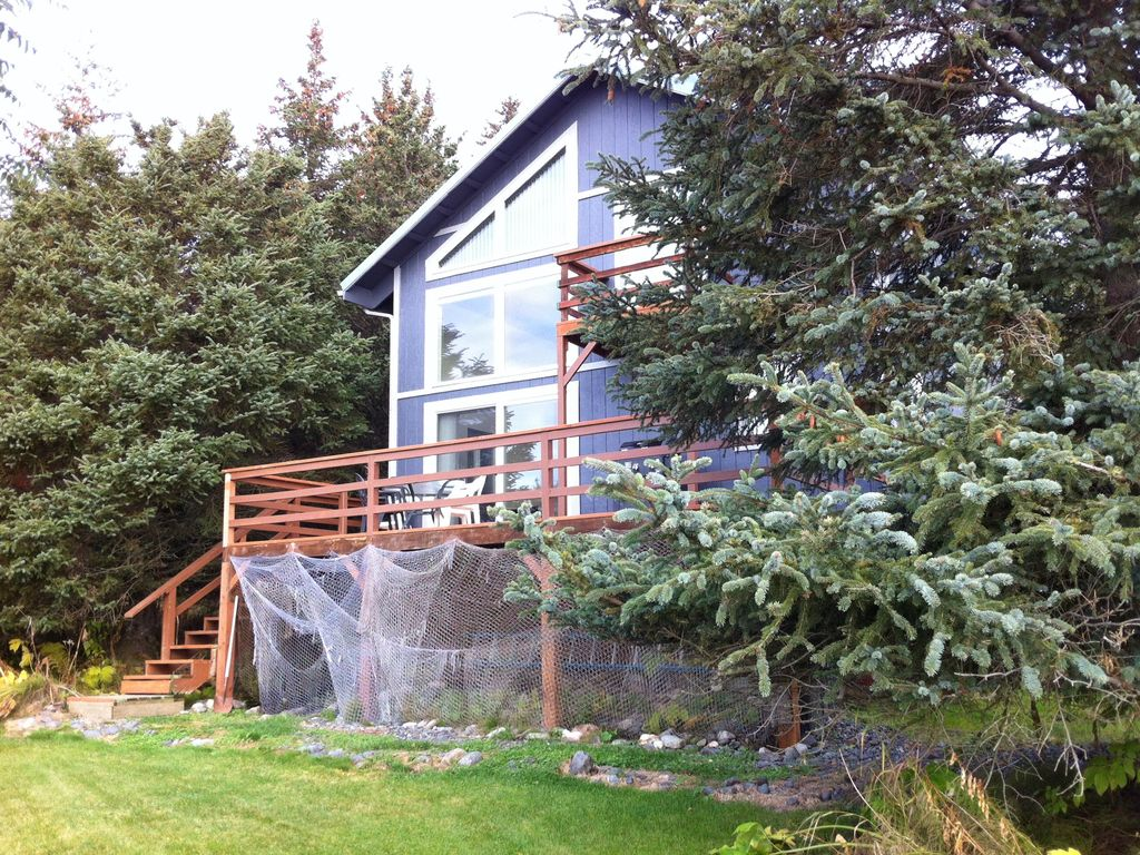Privacy and stunning view at the alaskan cottage homer for Alaska cottage