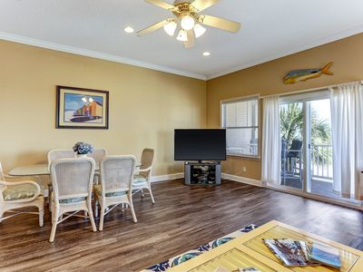Photo for 3 Bed/2 Bath Oceanview Townhouse.  Pet friendly, sleeps 10.  Across street from beach!