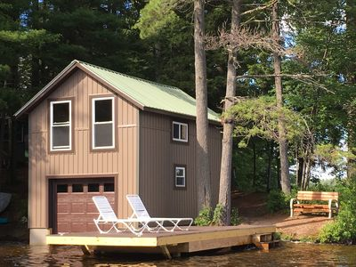 Photo for Pine Cone Point, Charming ADK Camp, 180' Lakefront On Pristine Brantingham Lake