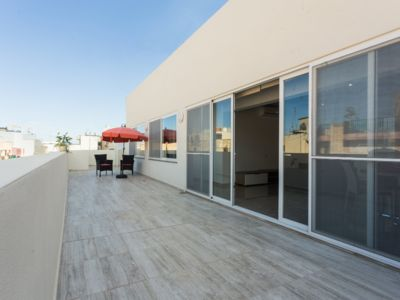 Photo for ST JULIANS, luxury penthouse with terrace 5 minutes from the sea, restaurants, bars!