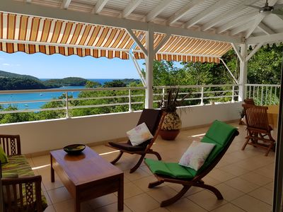 Photo for Magnificent view, comfort and calm for this top of villa in 5 mn beach. Wireless