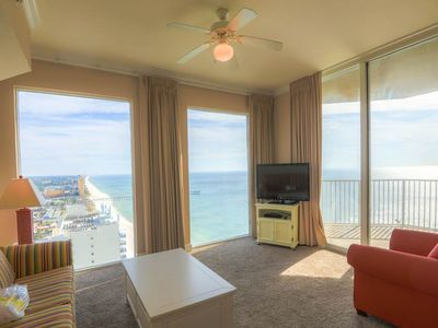 Photo for Picture-perfect corner condo! Incredible sunrise views! Resort pools/hot tubs!